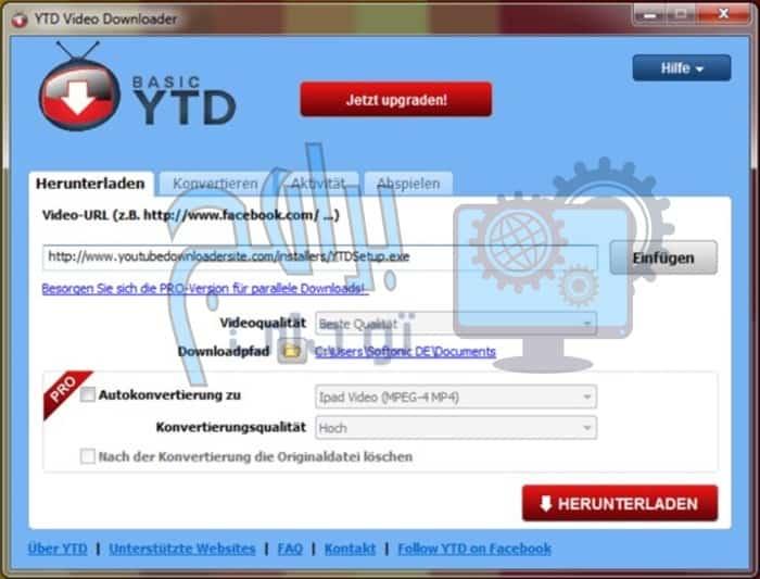 مميزات برنامج تنزيل الفيديوهات YTD Video Downloader