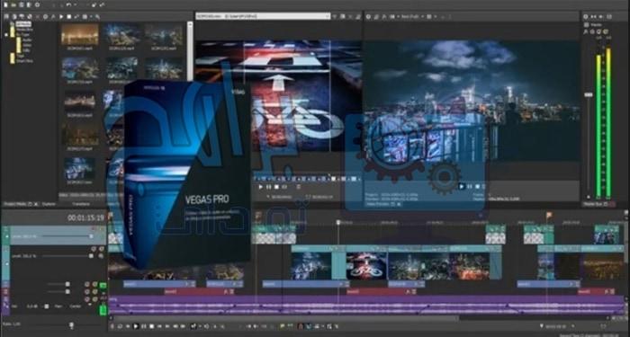 برنامج مونتاج الفيديو Sony Vegas