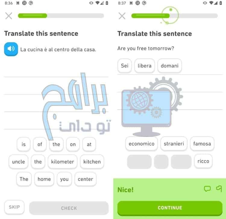 تطبيق دولينجو لتعلم اللغات