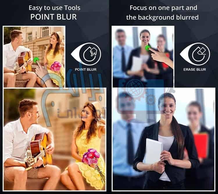 ماهي مميزات برنامج طمس الصور DSLR Camera Blur Effects ؟