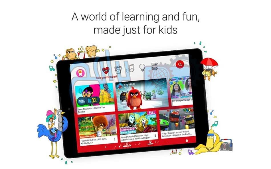 مميزات تطبيق يوتيوب كيدز Youtube Kids