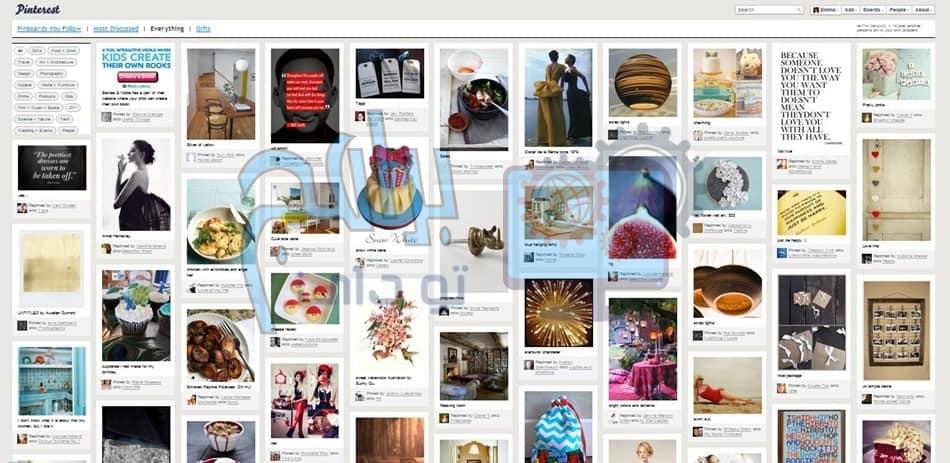 تحميل تطبيق بنترست Pinterest لمشاركة و تبادل الصور للكمبيوتر والموبايل