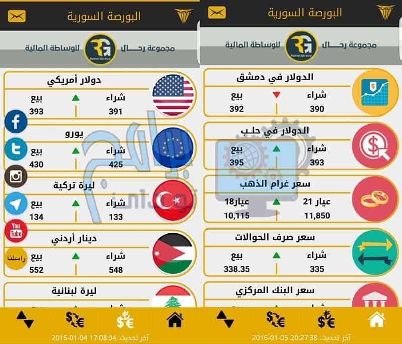 تحميل برنامج البورصة السورية للاندرويد والايفون مجانا أخر إصدار