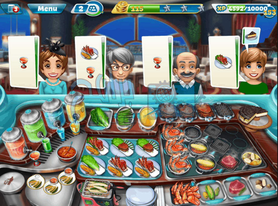 تحميل لعبة طبخ الطعام cooking fever مجانا للاندرويد والايفون برابط مباشر
