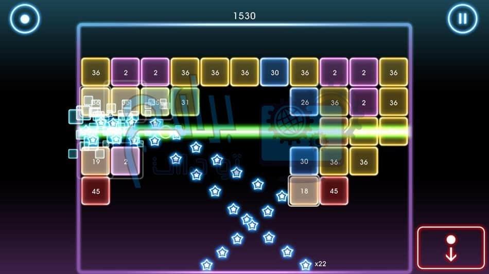 أنواع اللعب فى لعبة Bricks Breaker Quest