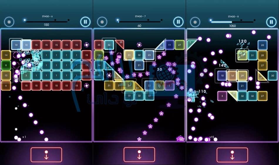 مميزات لعبة Bricks Breaker Quest