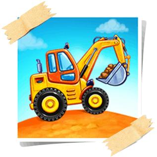 تحميل ألعاب شاحنة للأطفال - بناء منزل ، غسيل السيارات للاندرويد برابط مباشر