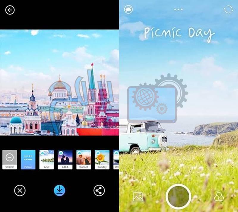 برنامج PICNIC على جهازك لتعديل الصور