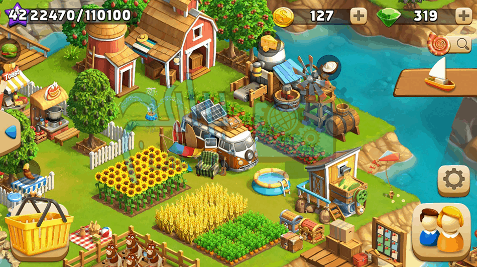 تحميل Funky Bay – لعبة محاكاة مزرعة مدينة الساحلية