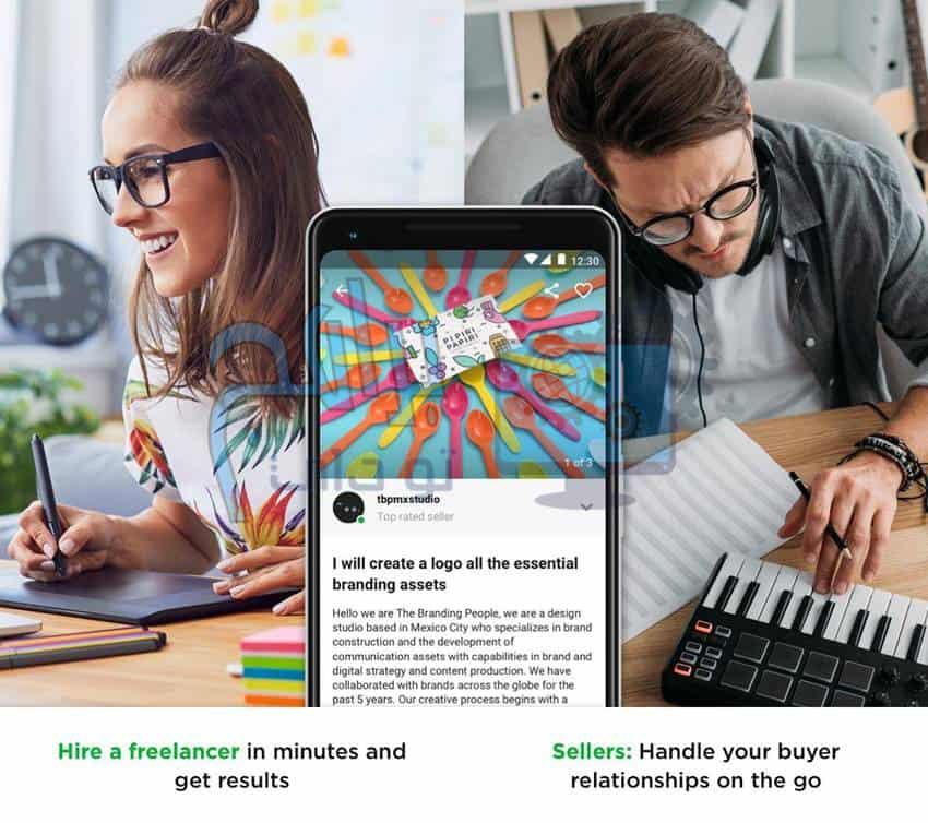 تنزيل تطبيق Fiverr Freelance Services للموبايل اخر اصدار